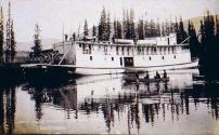 Steamboat GOV. PINGREE leaving its winter quarters in Steamboat Slough on the near the mouth of...