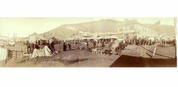 Panoramic view of Front Street, Dawson, Yukon Territory, August 17, 1899.