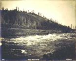 Whitehorse Rapids on the Yukon River, Yukon Territory, ca. 1899.