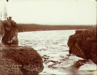 Ice jam at Five Finger  Rapids in the Yukon River, Yukon Territory, spring, ca. 1899.