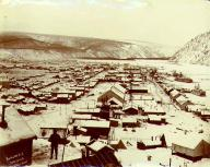 Panoramic view of Dawson, Yukon Territory, Nov. 21, 1899.