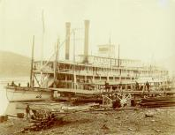 Steamboat SUSIE at dock, Dawson, Yukon Territory, 1899.