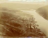 Panoramic view of Dawson from the Midnight Dome, Yukon Territory, Sept. 2, 1900.