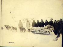 Nugget Express dogsled team, Yukon Territory, ca. 1898.