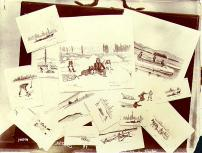 Collection of pen and ink sketches of the Klondike by artist Asa Thurston Haydon, Yukon Territory,...