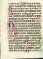 Psalter leaf: Psalm 35:10 to 36:17 (UW Ms 63 recto)