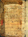 Antiphonary leaf: Chants for Feast of the Holy Innocents, Matins (Beals 32 verso)