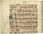 Antiphonary fragment: Chants for Feast of St. Gregory, Matins (Beals 42 Folio 2 verso)