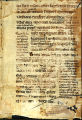 Bible bifolium with gloss, 13th century: Ecclesiasticus 35:4-13. (Beals 16, Folio 1, recto)