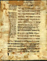 Bible bifolium with gloss, 13th century: Ecclesiasticus 38:29-36. (Beals 16, Folio 2, verso)