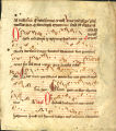 Breviary leaf, with music: Feast of Corpus Christi, Antiphons for Lauds (Beals 24 recto)