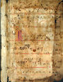 Antiphonary leaf: Chants for Feast of the Holy Innocents, Matins (Beals 32 recto)