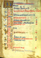 Book of Hours leaf: May calendar (Beals 39 recto)