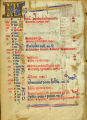 Book of Hours leaf: June calendar (Beals 39 verso)