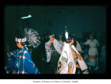 Dancers indoors at Makah Indian Reservation