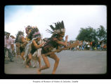Boys dancing during an event at Makah Indian Reservation