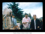 Charlie Swan, Dewey McGee and Eustace Markishtum during an event at Makah Indian Reservation