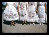 Designs on dresses at Makah Indian Reservation