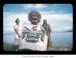 Nora Barker, Emma Jimmicum and Ralph LaChester at Makah Indian Reservation