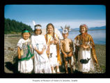 Children on a beach at Makah Indian Reservation