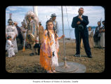Cynthia Thompson during a ceremony at Makah Indian Reservation