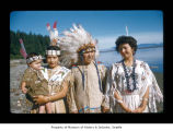 Sadie Johnson, Charlie Swan and Dicie Swan at Makah Indian Reservation
