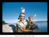 Dicie Swan with a child at Makah Indian Reservation