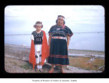 Margarie Sawyer and Mrs. Jerry McCarty at Makah Indian Reservation