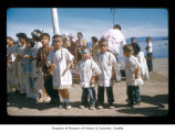 Children during a ceremony at Makah Indian Reservation