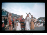 Millholland family and Amelia Smeatlum during an event at Makah Indian Reservation
