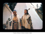 Mrs. Robertson and Helen Peterson at Makah Indian Reservation