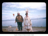Ralph LaChester and Emma Jimmicum at Makah Indian Reservation