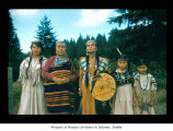 Millholland family and Amelia Smeatlum at Makah Indian Reservation