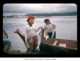 Iola Penn and Cynthia Davis with fish caught near the Quileute Indian Reservation