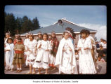 Girls during an event at Makah Indian Reservation