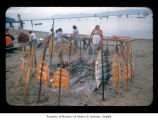 Women and food during a salmon bake at Makah Indian Reservation