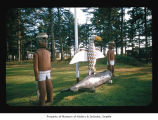 Totems on the Quileute Indian Reservation