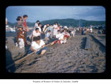Women during a tug of war game at  Makah Indian Reservation