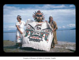 Emma Jimmicum, Ralph LaChester and Nora Barker at Makah Indian Reservation