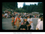 Girls dancing during an event at Makah Indian Reservation