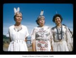 Lorraine Hunter, Sadie Johnson and Emma Jimmicum at Makah Indian Reservation