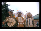 Ralph LaChester, Joe Hilaire and Charley Swan at Makah Indian Reservation