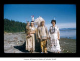 Charlie Swan, Sadie Johnson and Dicie Swan with a baby at Makah Indian Reservation