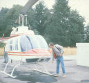 Helicopter rented for exploration of Mount St. Helens