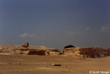 Great Sphinx and nearby mastabas at Giza, looking North