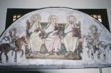 Fresco of Three Seated Figures
