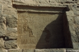 Inscription with seated figure near Temple of Khnum at Elephantine