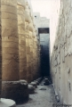 Behind the pillars at Temple of Luxor