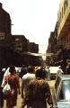 Cairo, busy street in the market district (Khan al-Khalili)