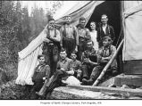 People at Dave Burrowes Logging camp, near Sequim or Little River